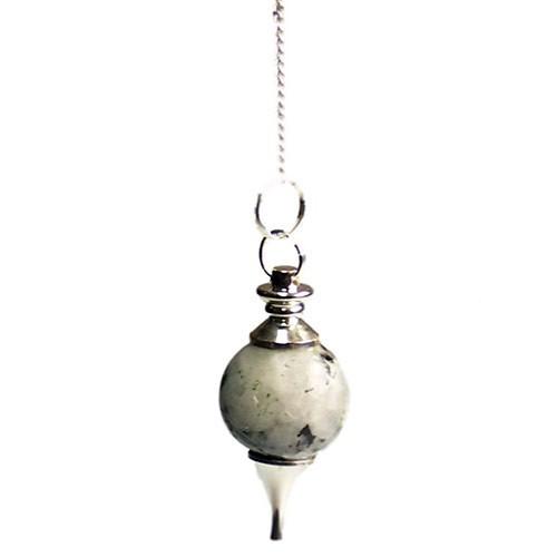Rainbow Moonstone Sphere Pendulum