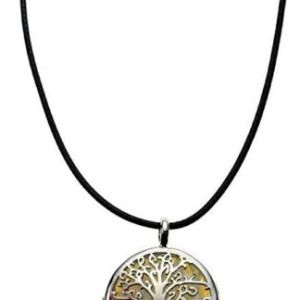 Pendant Tree Of Life Opalite Stone In Cage 30mm On Cord
