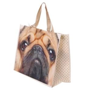 Cute Pug Durable Reusable Shopping Bag