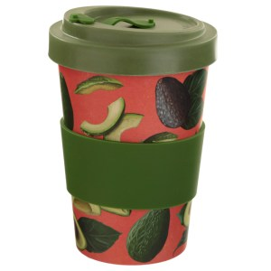 Bamboo Composite Avocado Screw Top Travel Mug