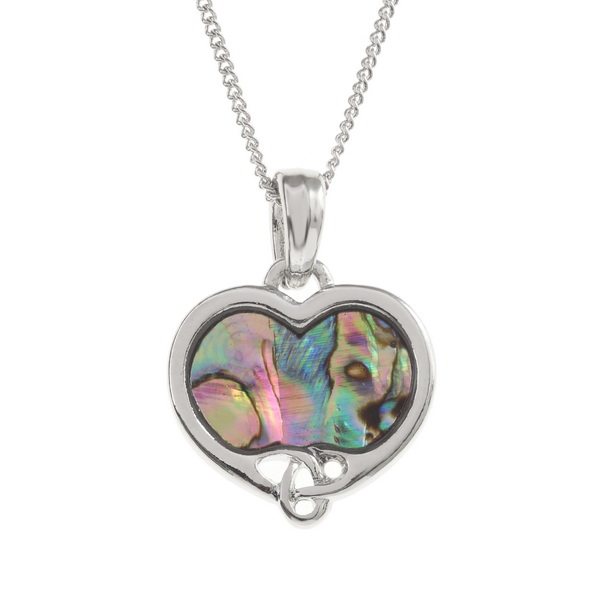 Tide Jewellery inlaid Paua shell Celtic heart pendant