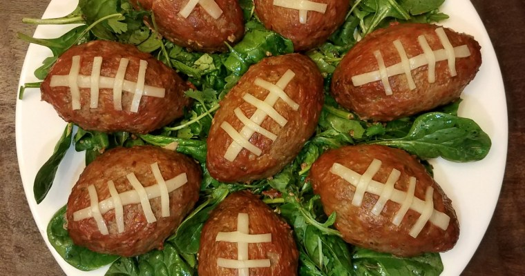 Game-Day Eats: Personal Meatloaf Footballs – Italian Style