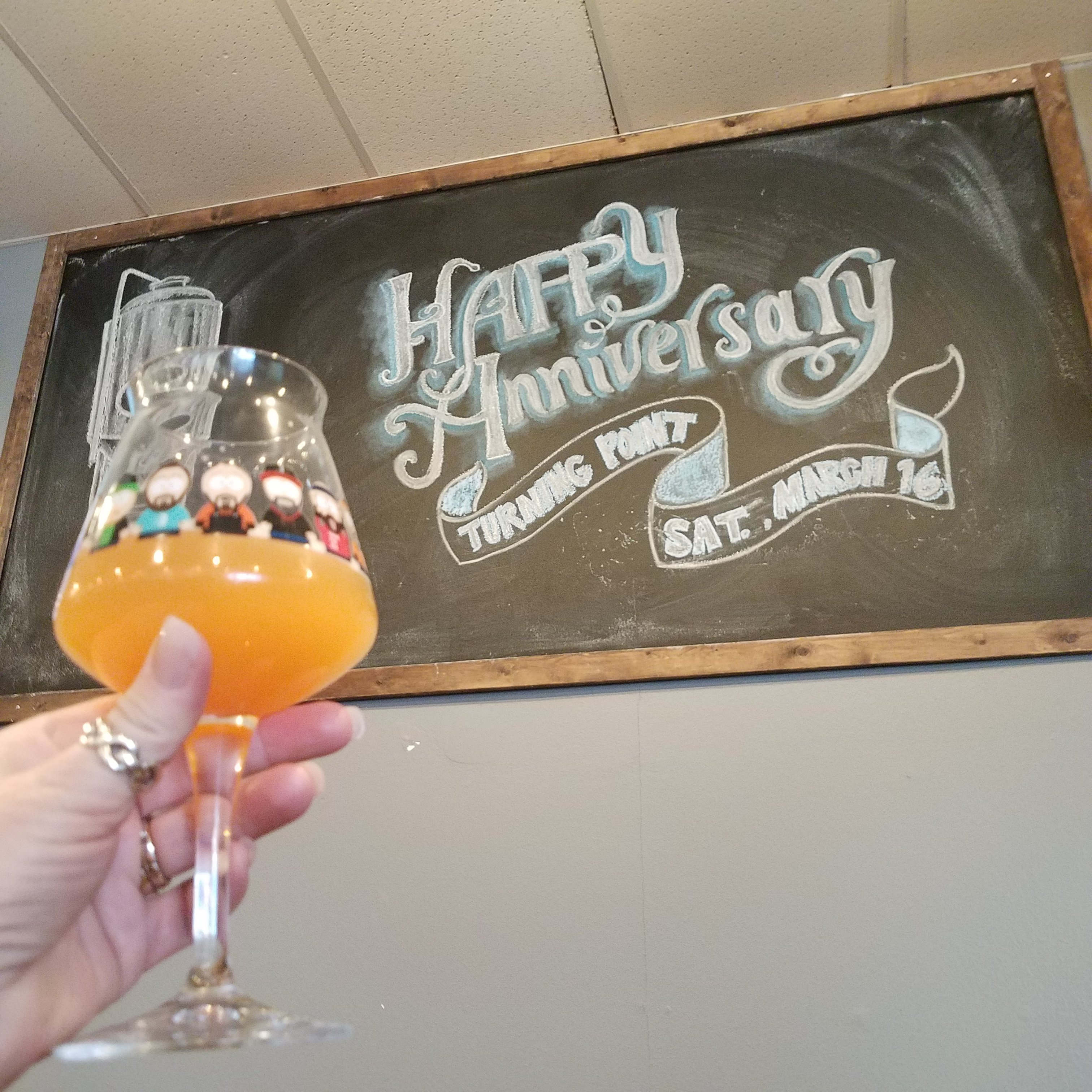 Turning Point Beer Turned 1!