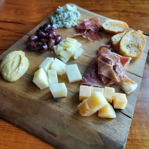 Texas Street Grill meat and cheese board