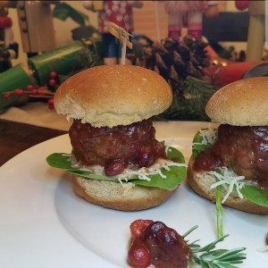 Holiday Turkey Cranberry Sliders
