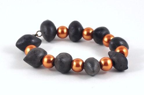 Black Fired Bracelet