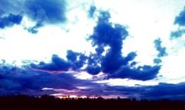 Sunset over Olgas Night 1