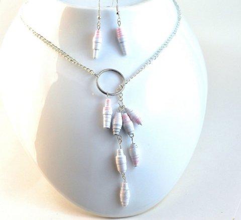 Upcycled Paper Bead Jewellery Set