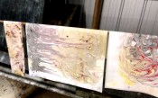 Dawn Whitehand Marbled Paper