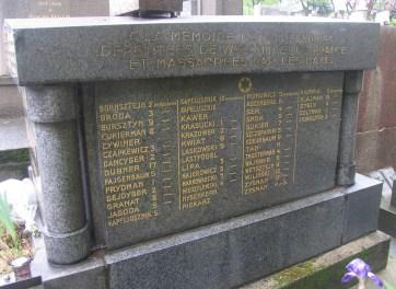 Ku pamięci naszych rodzin deportowanych z Wołomina i z Francji i zamordowanych przez nazistów