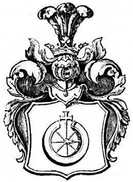 Rysunek 8. Wizerunek herbu Osorya w herbarzu Niesieckiego [27].