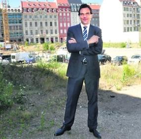 Christoph Gröner, Chef der CG Gruppe, erklärte am Mittwoch seine Pläne für das Quartier III/2. Foto: Una Giesecke