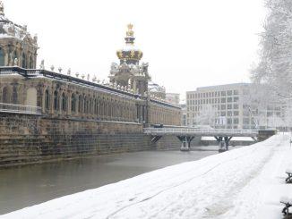 Winterspaziergang durch Dresdens schönes Altstadt - das war in diesem Winter leider Mangelware. Foto: Juliane Zönnchen