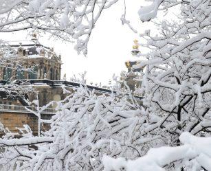 Winterspaziergang durch Dresdens schönes Altstadt. Foto: DAWO