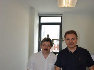 Dr. Yury Yarin und Dr. med. Udo Schäfer vom Allergiezentrum Sachsen. Foto: PR
