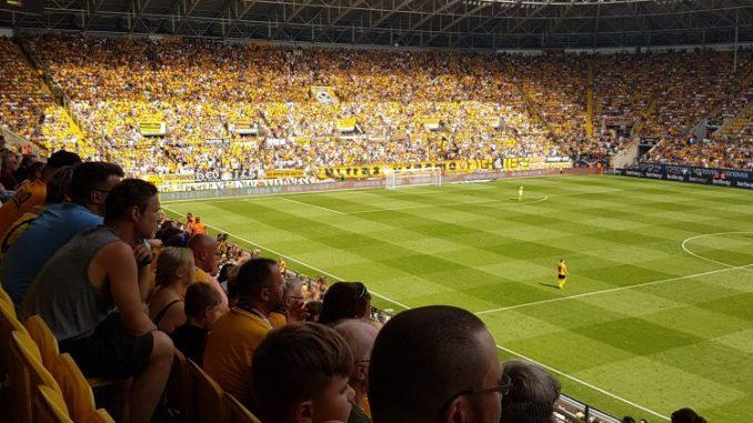 Am 21. Mai trifft die SG Dynamo Dresden im DDV Stadion auf Arminia Bielefeld. Foto: F. Sommer