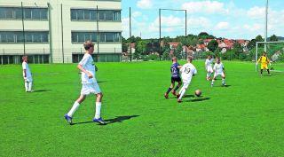 Kleine Kicker werden im Team Soccer ganz groß. Foto: PR