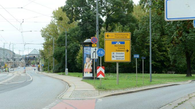 An der Marienbrücke soll ein neues Hotel entstehen. Foto: Petra Hornig