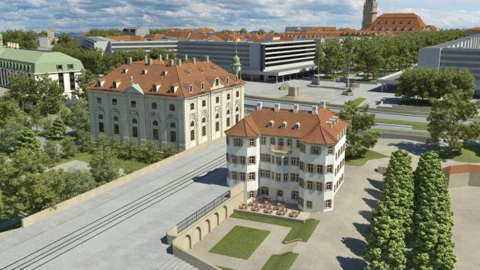 So könnte das Narrenhäusel wieder errichtet werden. Visualisierung: Neumarkt-Dresden.de