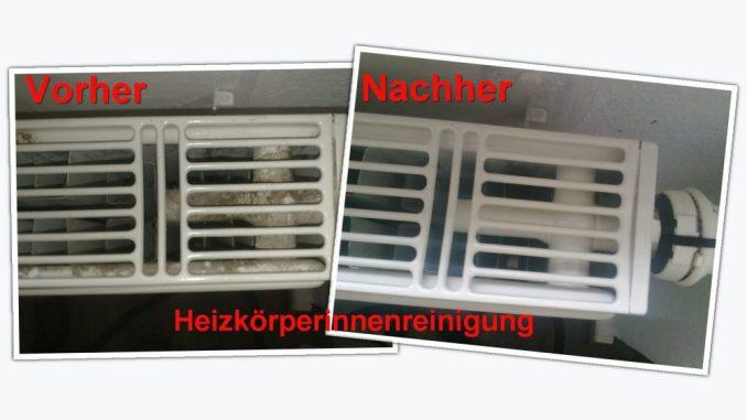 Vorher und Nachher: So effektiv ist die Heizkörperreinigung. Foto: PR