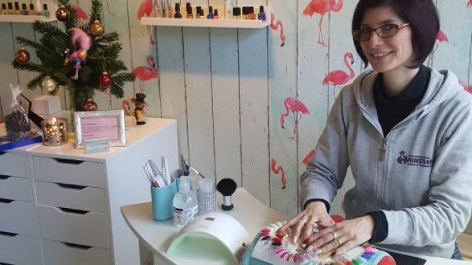 Anne Jürich im neuen Nagelstudio. Foto: PR
