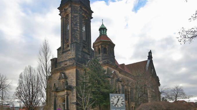 Die Lukaskirche in der Dresdner Südvorstadt ist der Kirchenbau der evangelischen Lukaskirchgemeinde in Dresden. Foto: Ove Landgraf