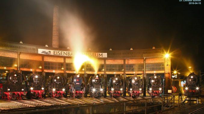 """Das Dampfloktreffen findet einen seiner Höhepunkte in der Veranstaltung """"Dixie & Dampf"""". Foto: Interessengemeinschaft Bw Dresden Altstadt e.V./Christof Schroefl"""