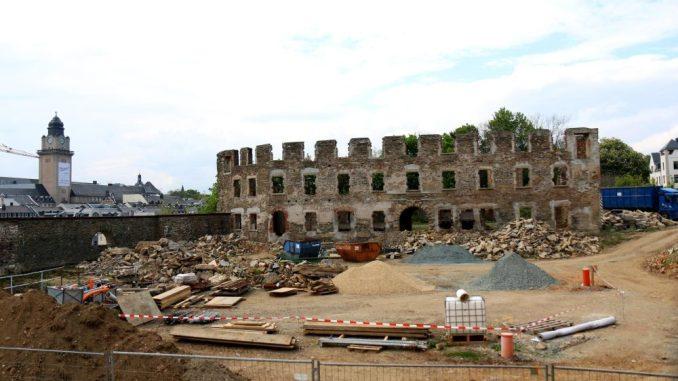 Die Ruine des Plauener Schlosses. Foto: Claudia Drescher/dpa-Zentralbild