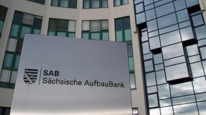 Die Sächsische AufbauBank (SAB) in Dresden. Foto: Arno Burgi/Archiv
