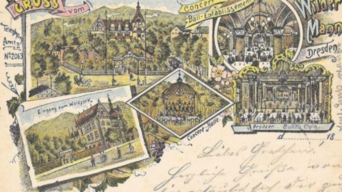 Gasthof Wilder Mann, Ansichtskarte von 1895 Foto: Archiv Klaus Brendler