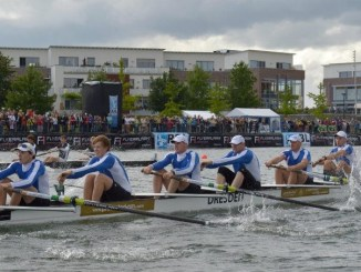 Ein spannendes Rennen auf der Elbe erwartet die Zuschauer beim Stadtfest. Foto: Dresdner Ruder-Club