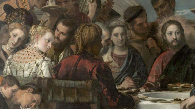 Veronese, Paolo: Die Hochzeit zu Kana, Detail: Jesus, Maria, da (um 1571, Öl auf Leinwand)/ (Foto: SKD)