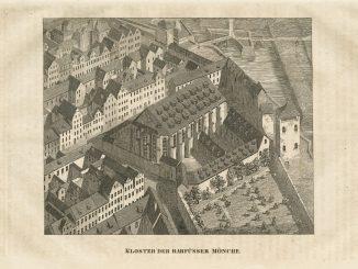 Das Franziskanerkloster der Barfüßermönche, Ansicht im 16. Jahrhundert. (Foto: Stadtarchiv Dresden)