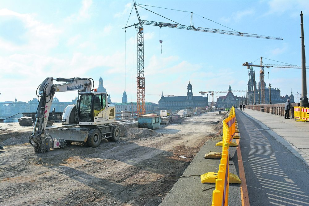Dresden Augustusbrücke Baustelle 2018