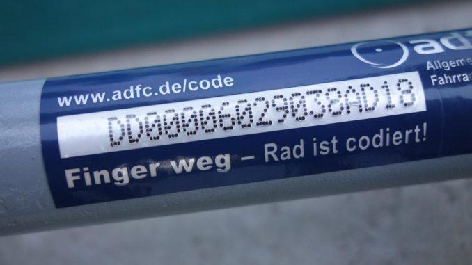 Ein codiertes Fahrrad kann bei einem Diebstahl schneller gefunden werden. Foto: ADFC