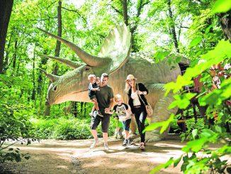 Im Saurierpark lassen sich die Riesen der Urzeit hautnah erleben.
