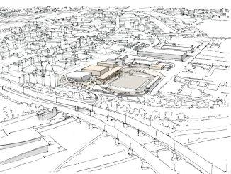 Eine Konzeptzeichnung des Heinz-Steyer-Stadions. Foto: PR