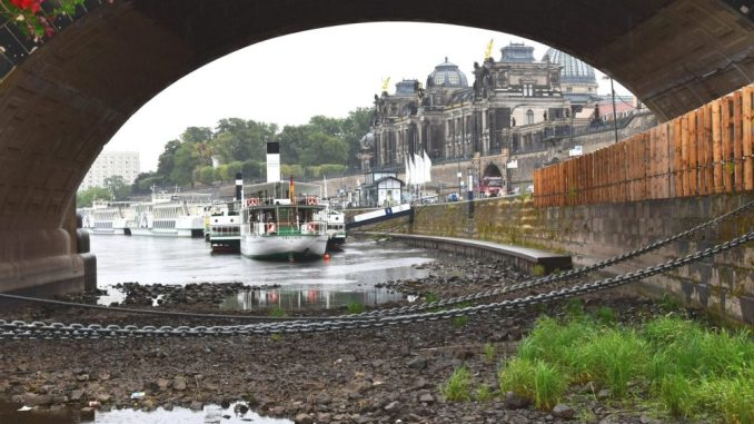 Niedriger Stand der Elbe macht auch der Sächsischen Dampfschiffahrt zu schaffen. (Foto: Juliane Zönnchen)