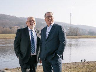 Vorstandsvorsitzender Gunther Seifert und Vorstandsmitglied Roger Ulke von Konsum. Foto: PR