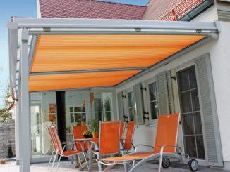 Mehr Lebensqualität und Freiheit. Ein System mit vielen Möglichkeiten z. B. Terrassendach mit Markise. (Foto: PR)