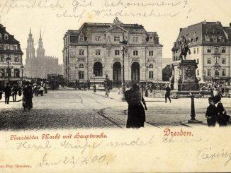 Der Neustädter Markt auf einer historischen Postkarte um 1900. Archiv: Holger Naumann