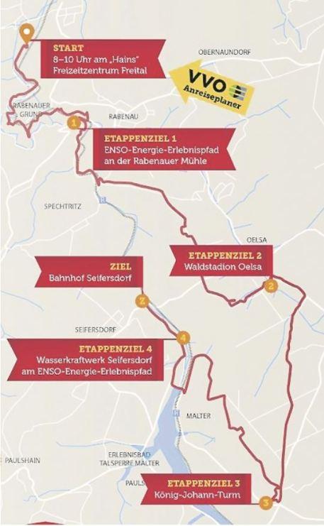 Die Route zur Wanderung. Foto: PR
