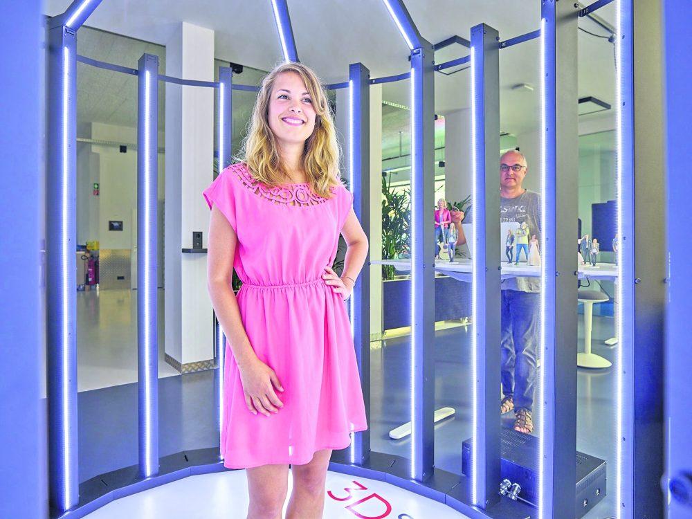 Figur zu gewinnen: 3D Scanner im Haus der Presse