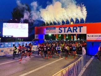 Der Start beim großen Marathon. Fotos: M. Brückner