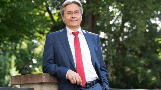 Der Rektor der Technischen Universität Dresden, Prof. Dr. Hans Müller-Steinhagen. (Foto: Sebastian Kahnert/Archiv)