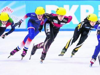 Die Dresdner Short Tracker freuen sich schon auf den Weltcup-Azuftritt auf heimischem Eis.