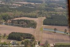 Looking down a runway