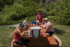 Lunch at Roughlock Falls