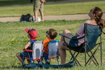 Watching the airshow