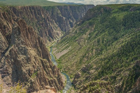 The gorge from the top